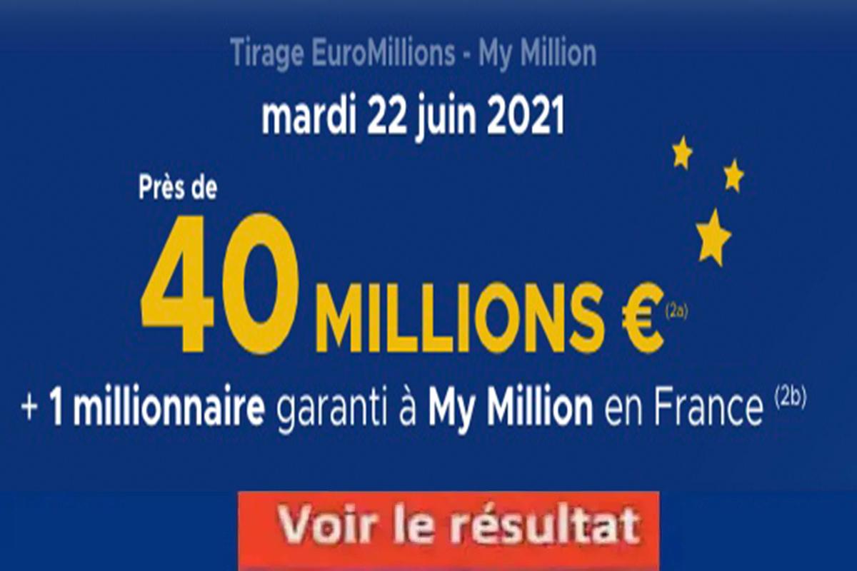 Resultat Euromillion 22 juin 2021