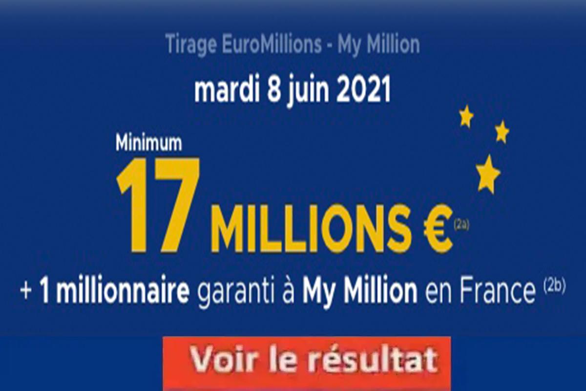 Resultat Euromillion 8 juin 2021