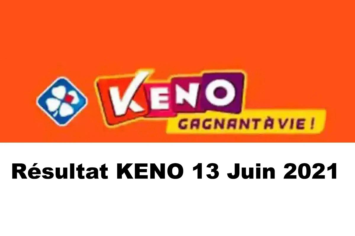 Resultat KENO 13 Juin 2021 tirage midi et soir