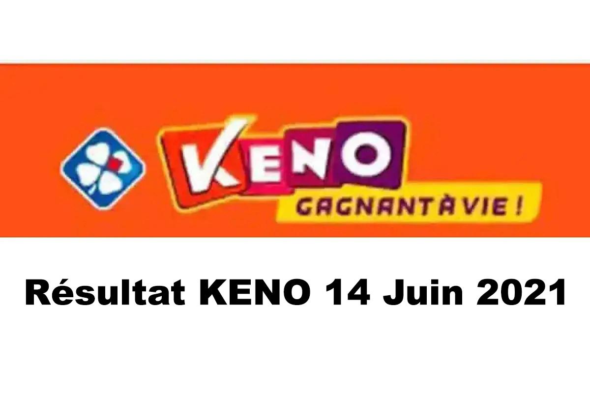 Resultat KENO 14 Juin 2021 tirage midi et soir