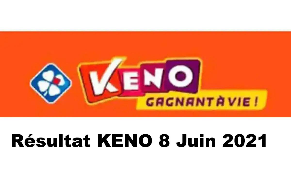 Resultat KENO 8 Juin 2021 tirage midi et soir