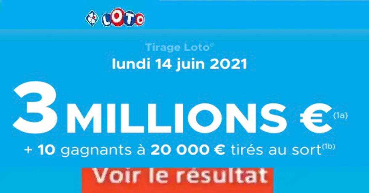Resultat LOTO 14 Juin 2021 Joker+ et codes loto gagnant