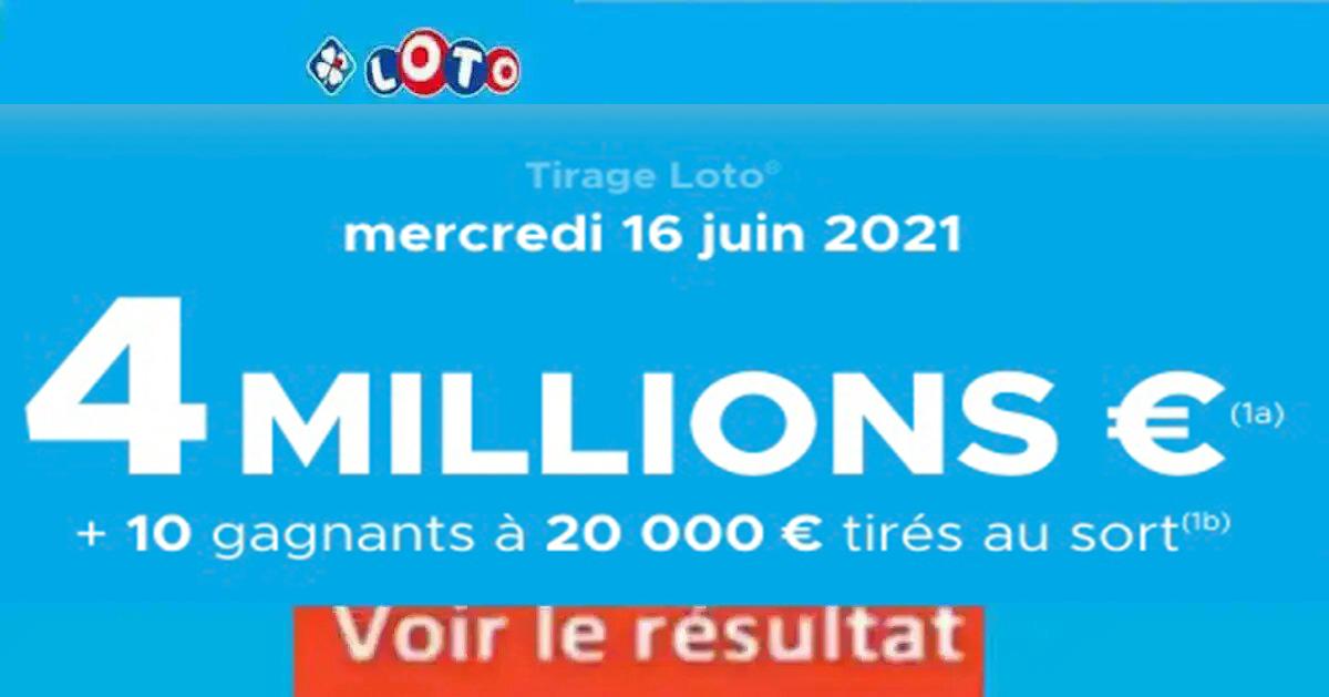 Resultat LOTO 16 Juin 2021 Joker+ et codes loto gagnant