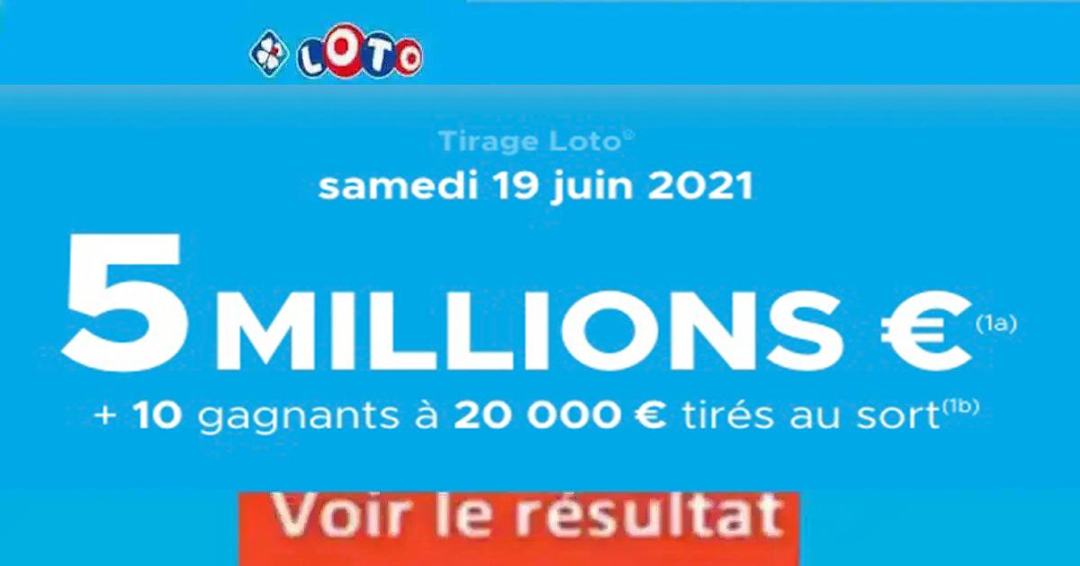 Resultat LOTO 19 Juin 2021 Joker+ et codes loto gagnant