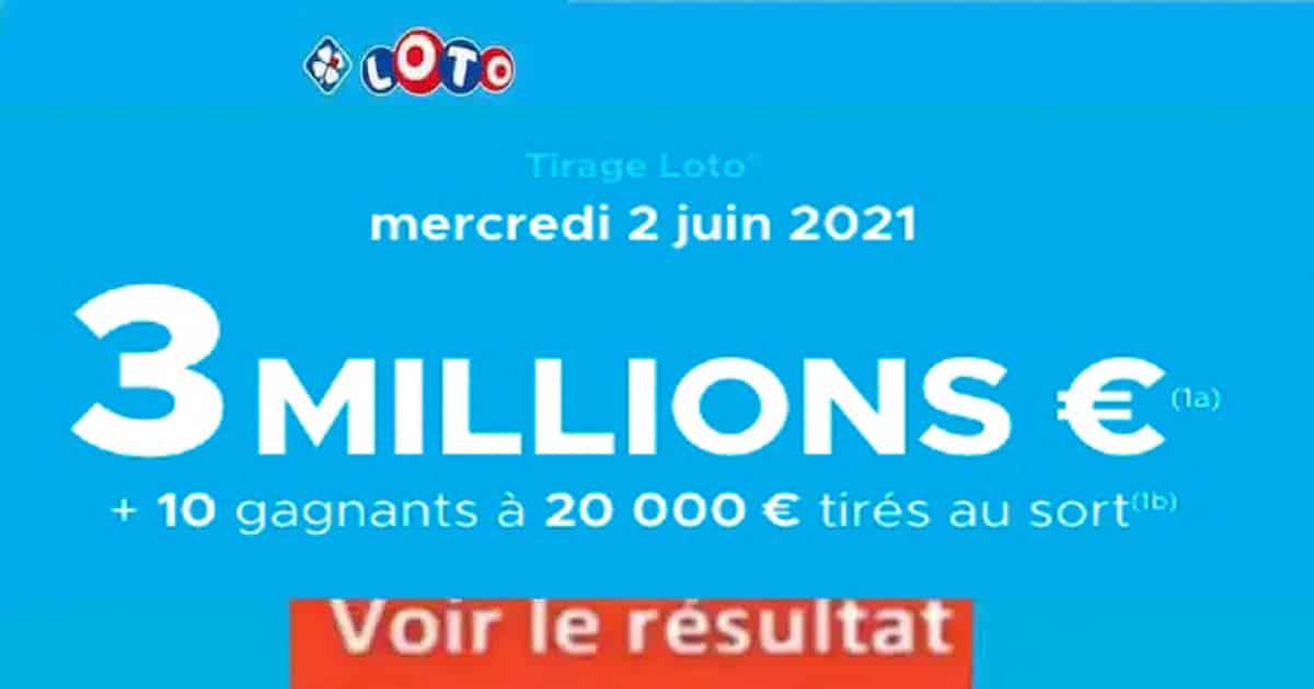 Resultat LOTO 2 juin 2021 joker+ et codes loto gagnant