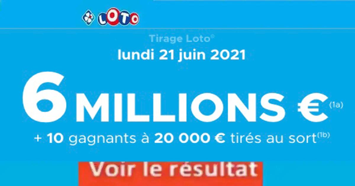 Resultat LOTO 21 Juin 2021 Joker+ et codes loto gagnant