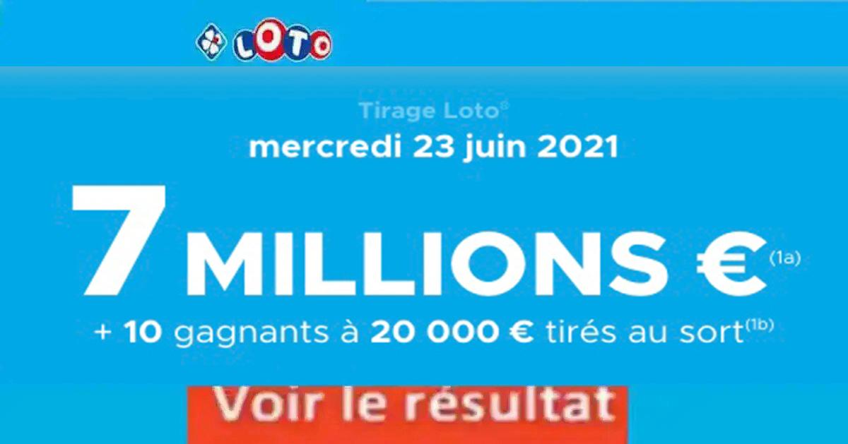 Resultat LOTO 23 juin 2021 joker+ et codes loto gagnant