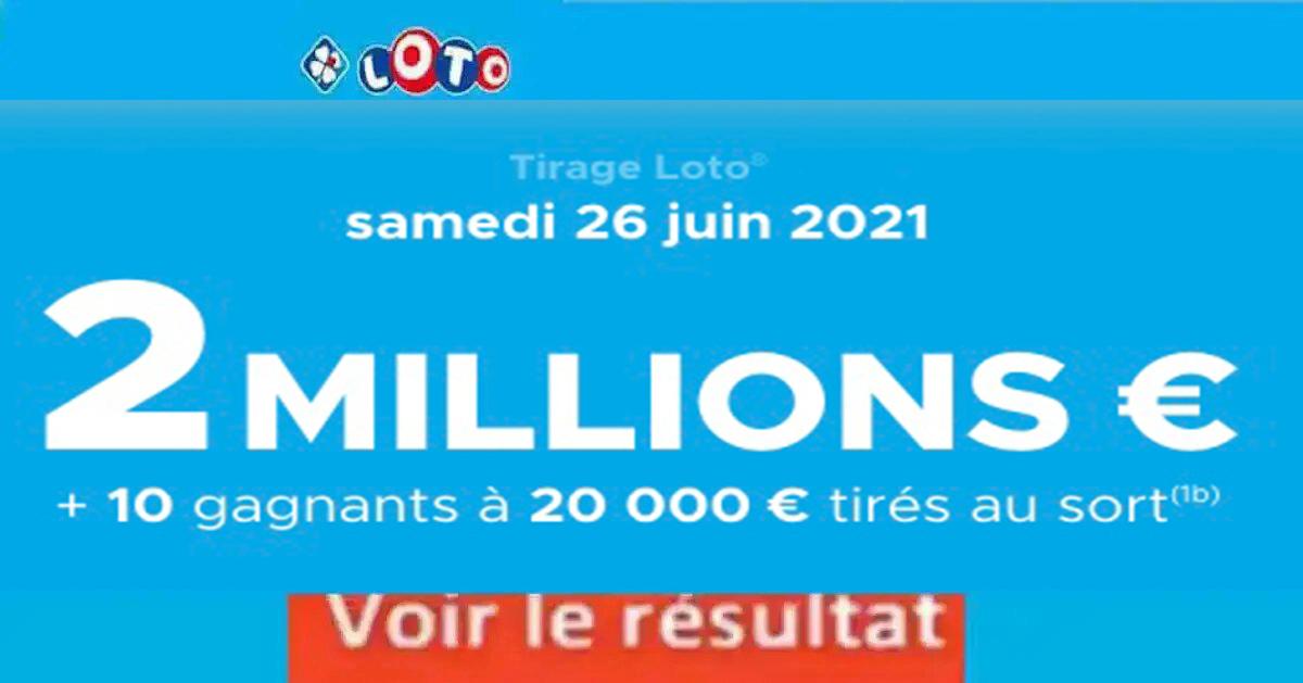 Resultat LOTO 26 juin 2021 joker+ et codes loto gagnant