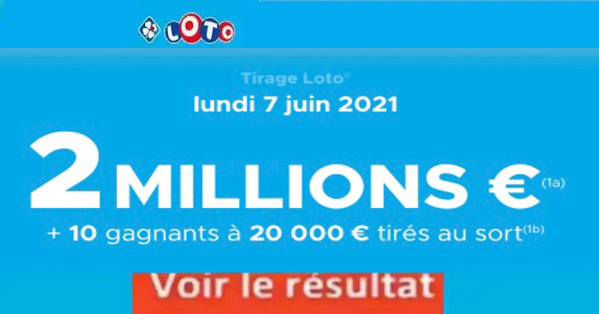 Resultat LOTO 7 juin 2021 joker+ et codes loto gagnant