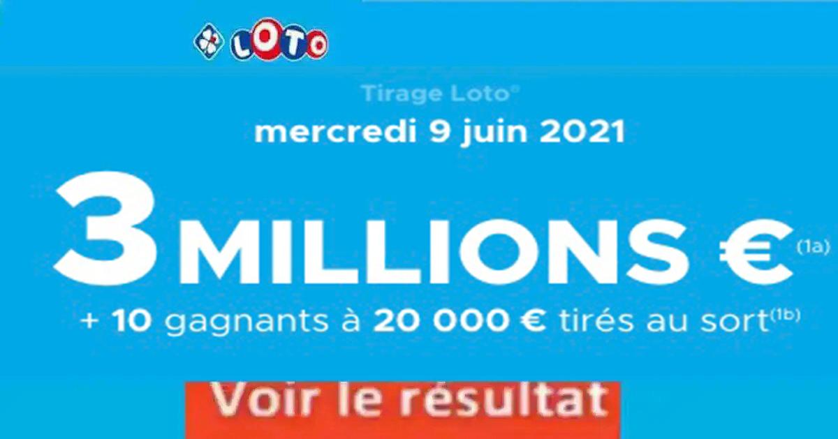 Resultat LOTO 9 Juin 2021 Joker+ et codes loto gagnant