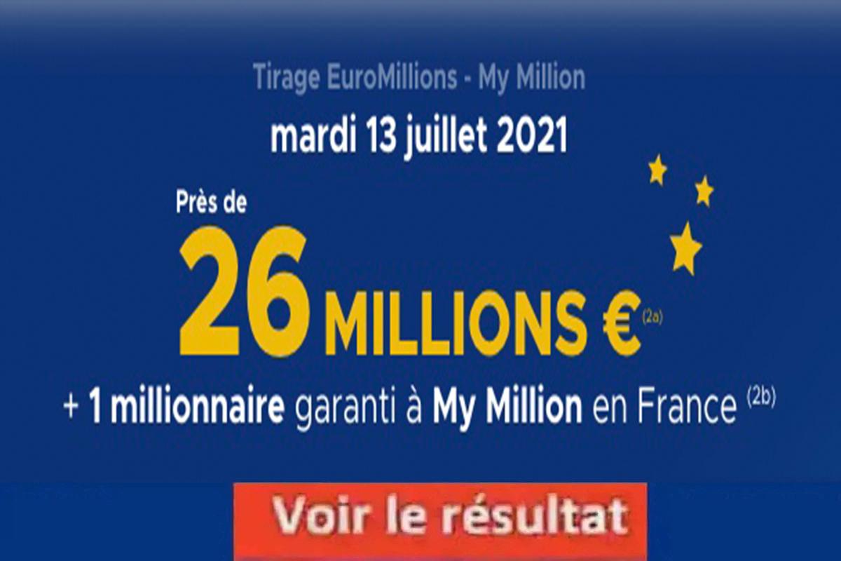 Resultat Euromillion 13 juillet 2021
