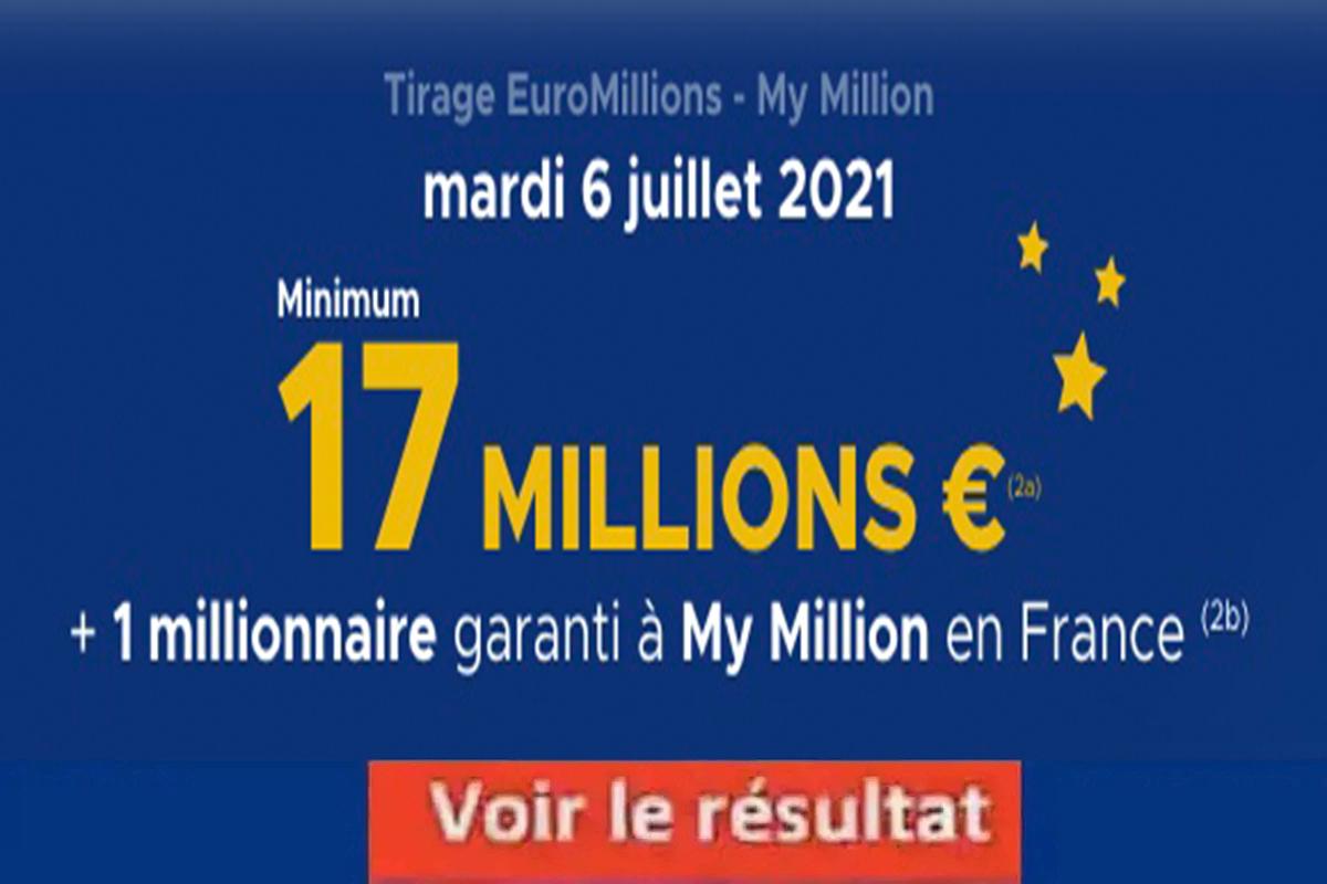 Resultat Euromillion 6 juillet 2021
