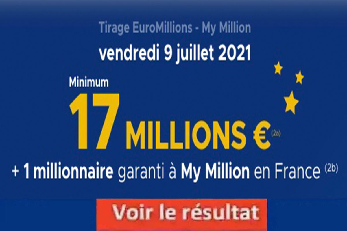Resultat Euromillion 9 juillet 2021