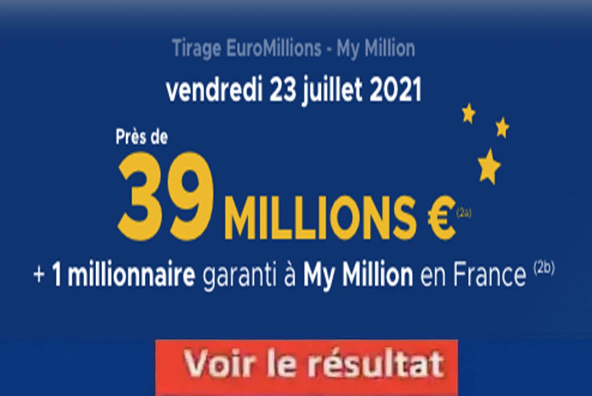 Resultat Euromillions 23 juillet 2021