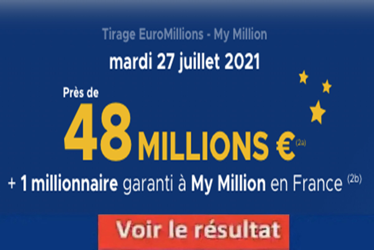 Resultat Euromillions 27 juillet 2021