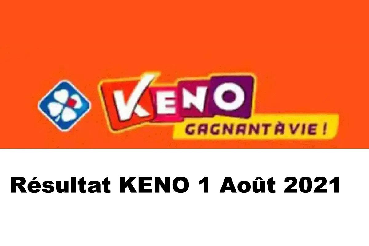 Resultat KENO 1 aout 2021 tirage midi et soir