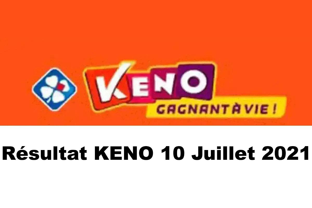 Resultat KENO 10 juillet 2021 tirage midi et soir