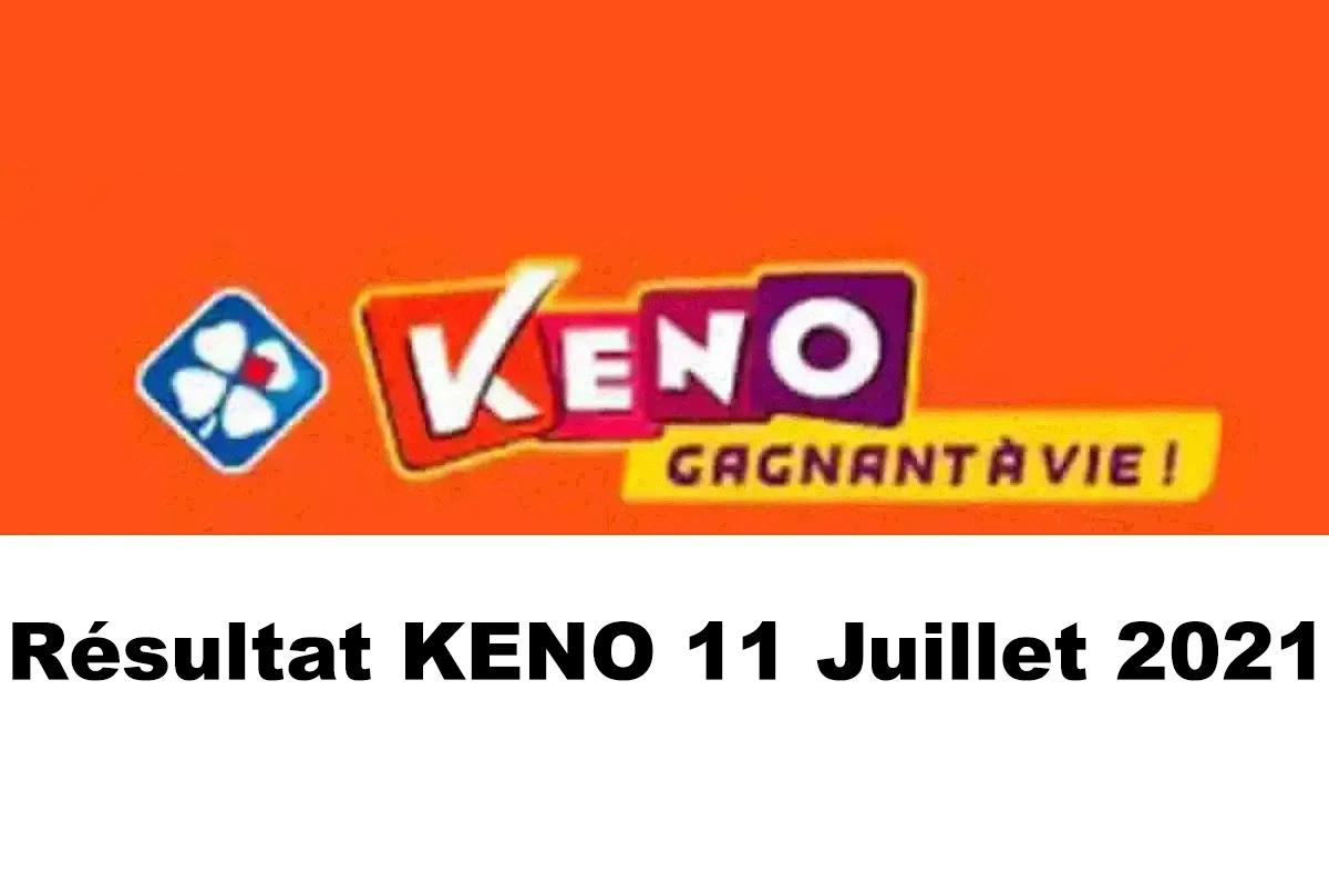 Resultat KENO 11 juillet 2021 tirage midi et soir