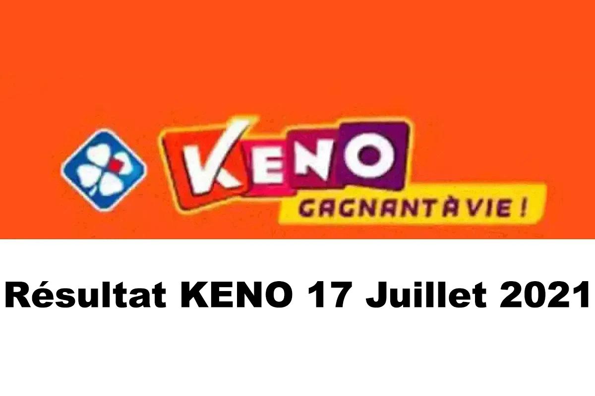 Resultat KENO 17 juillet 2021 tirage midi et soir
