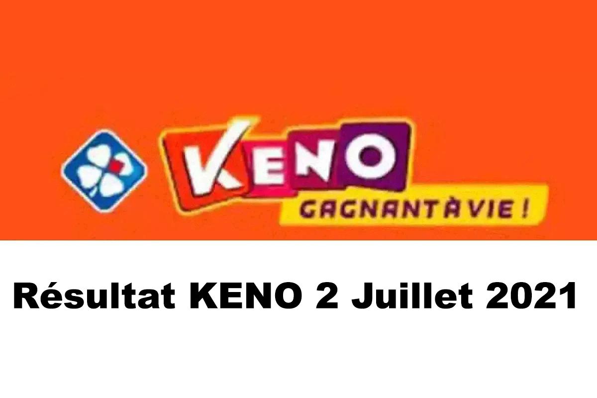 Resultat KENO 2 juillet 2021 tirage midi et soir