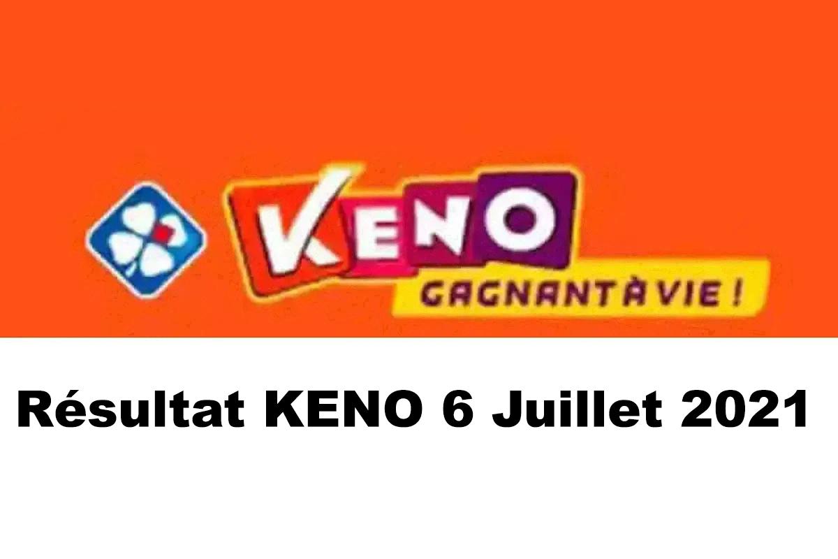 Resultat KENO 6 juillet 2021 tirage midi et soir
