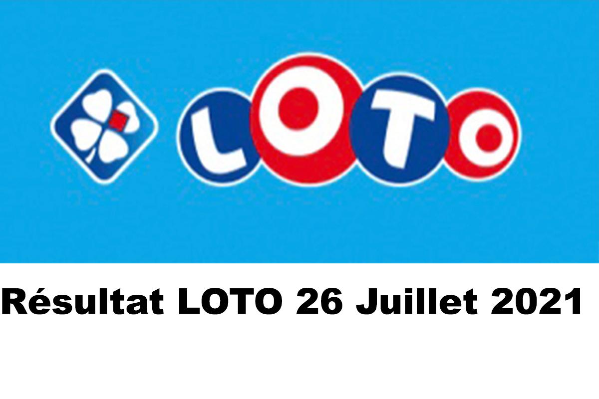 Resultat LOTO 26 juillet 2021 joker+ et codes loto gagnant