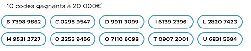 codes loto gagnant 14 août 2021