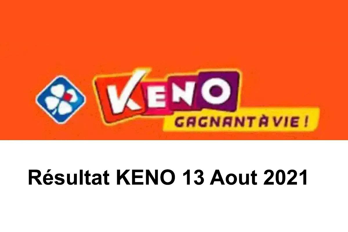 resultat KENO 13 aout 2021 tirage midi et soir