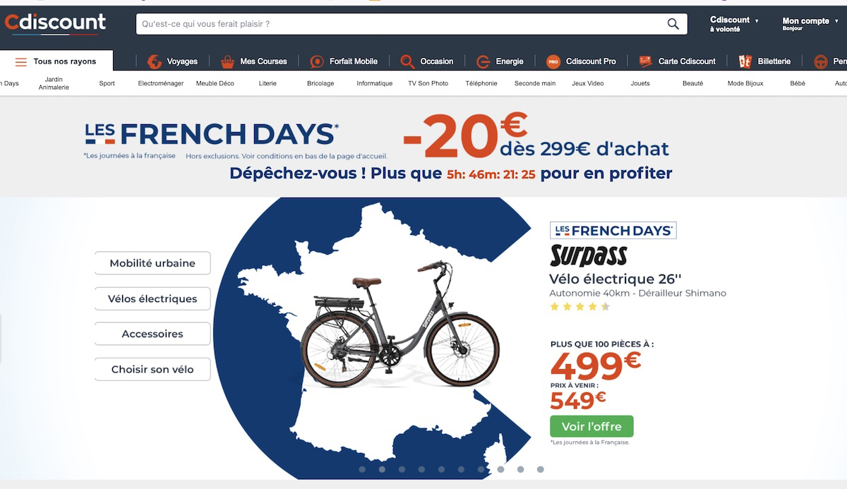 French Days Cdiscount code promo