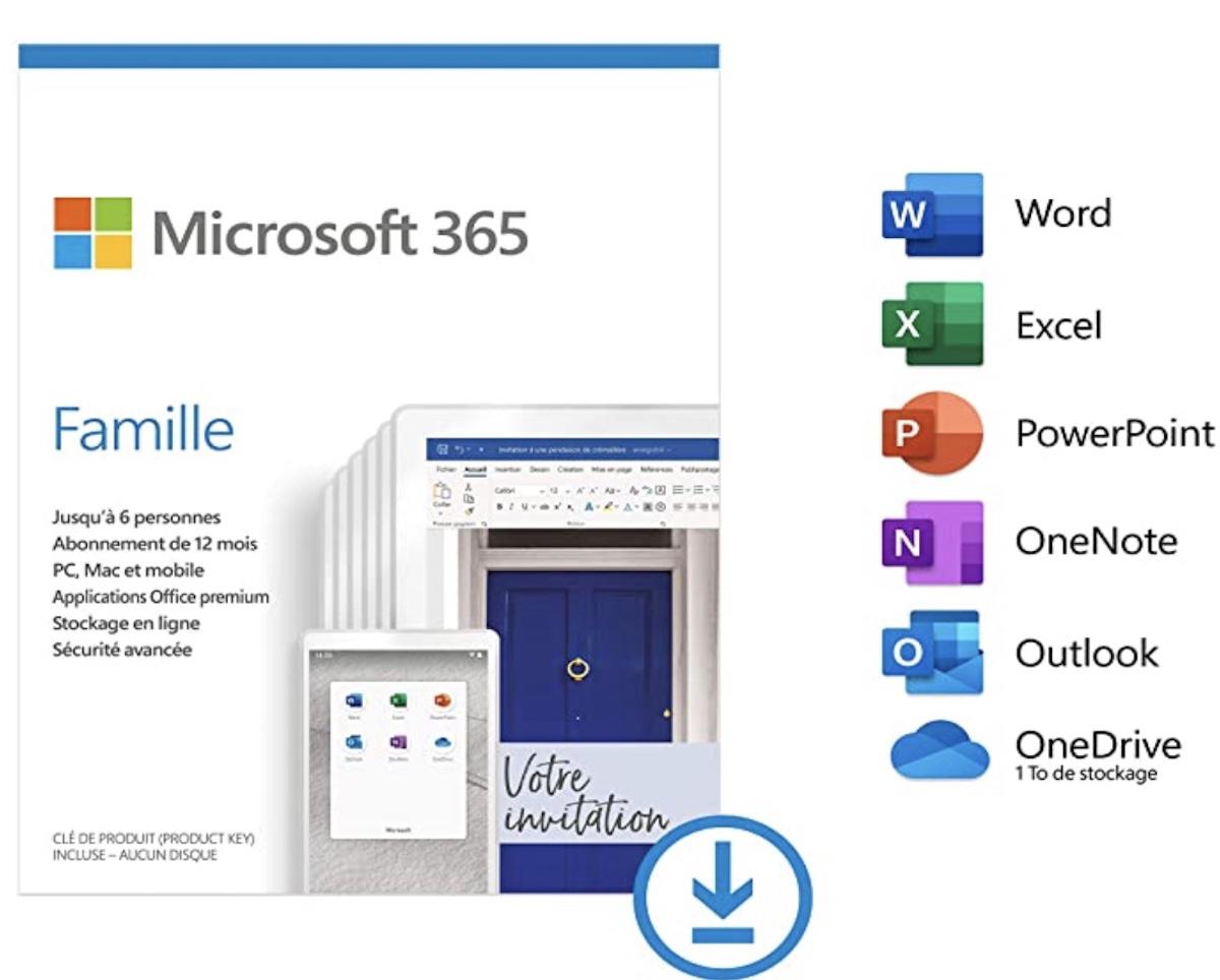 Promo Microsoft 365 famille