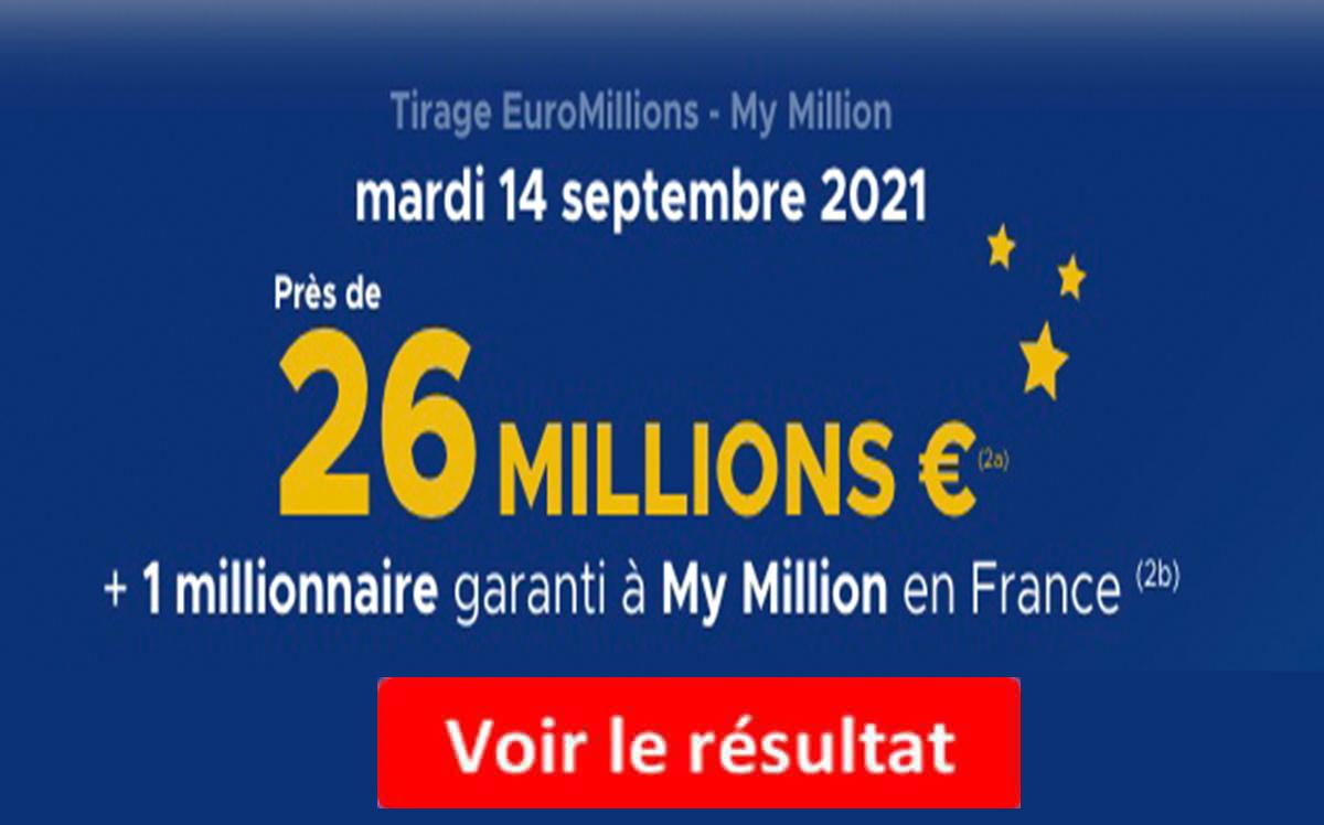 Resultat Euromillions 14 septembre 2021