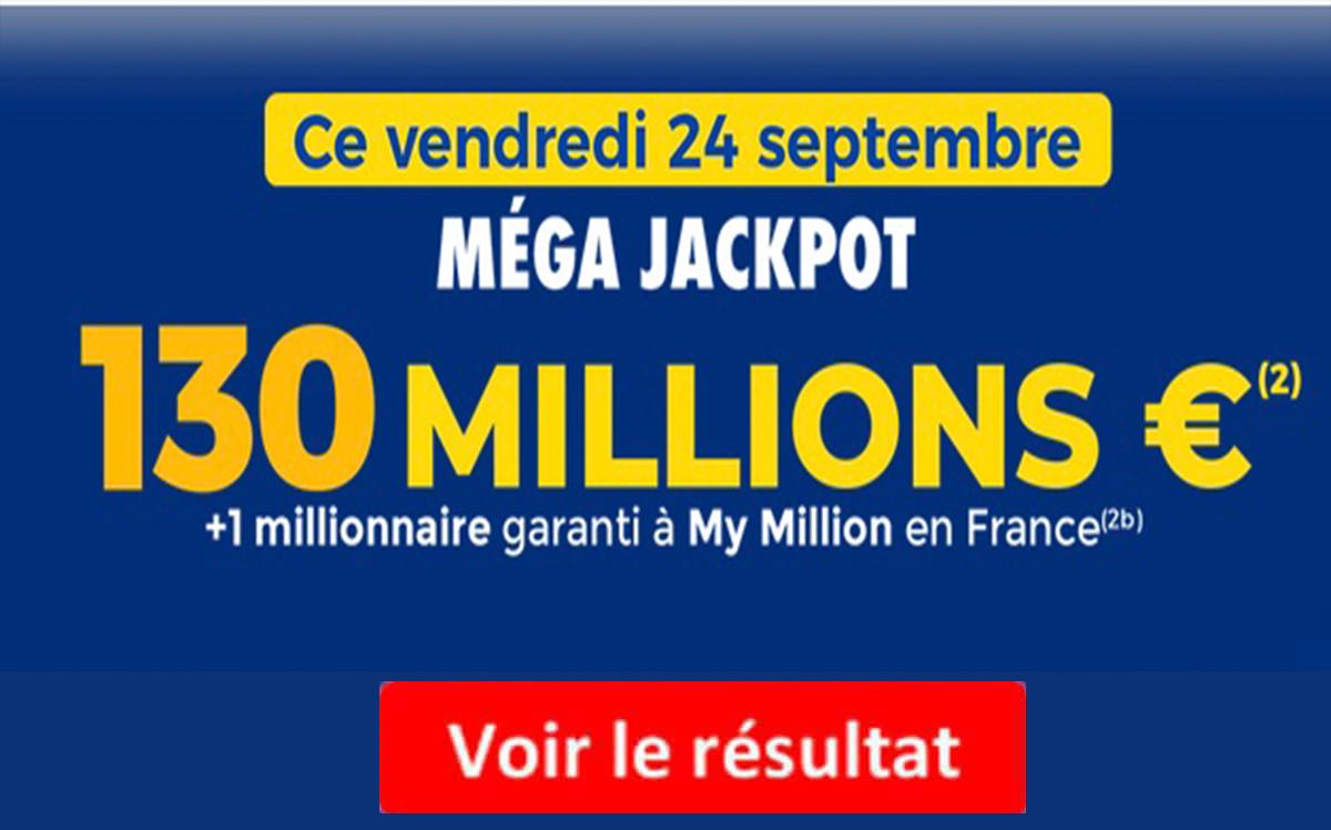 Resultat Euromillions 24 septembre 2021