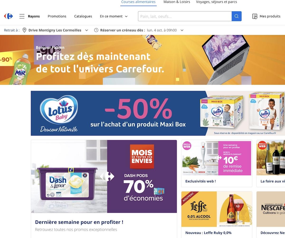 Bon d'achat et Code promo Carrefour