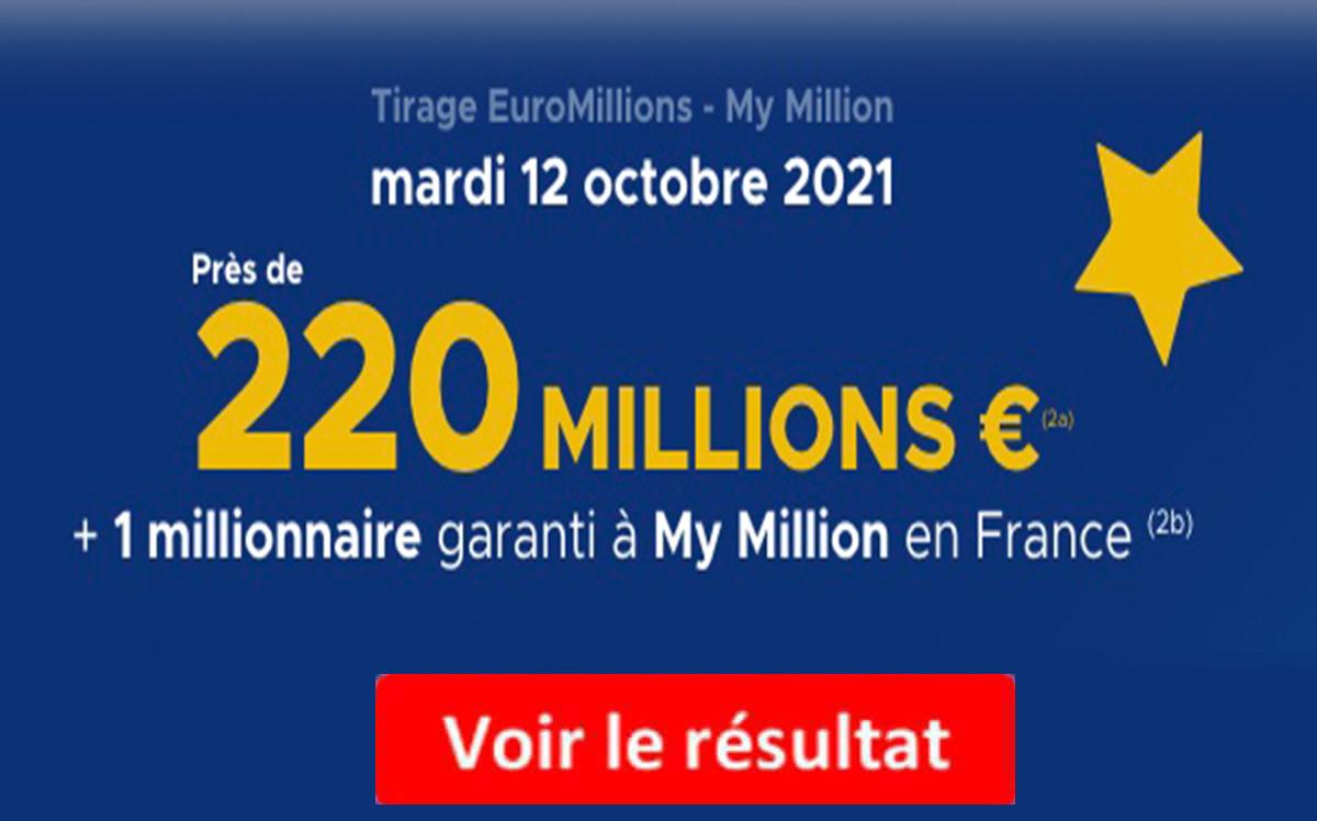 Resultat euromillions 12 octobre 2021