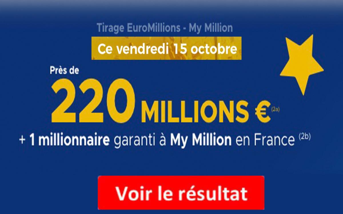Resultat euromillions 15 octobre 2021