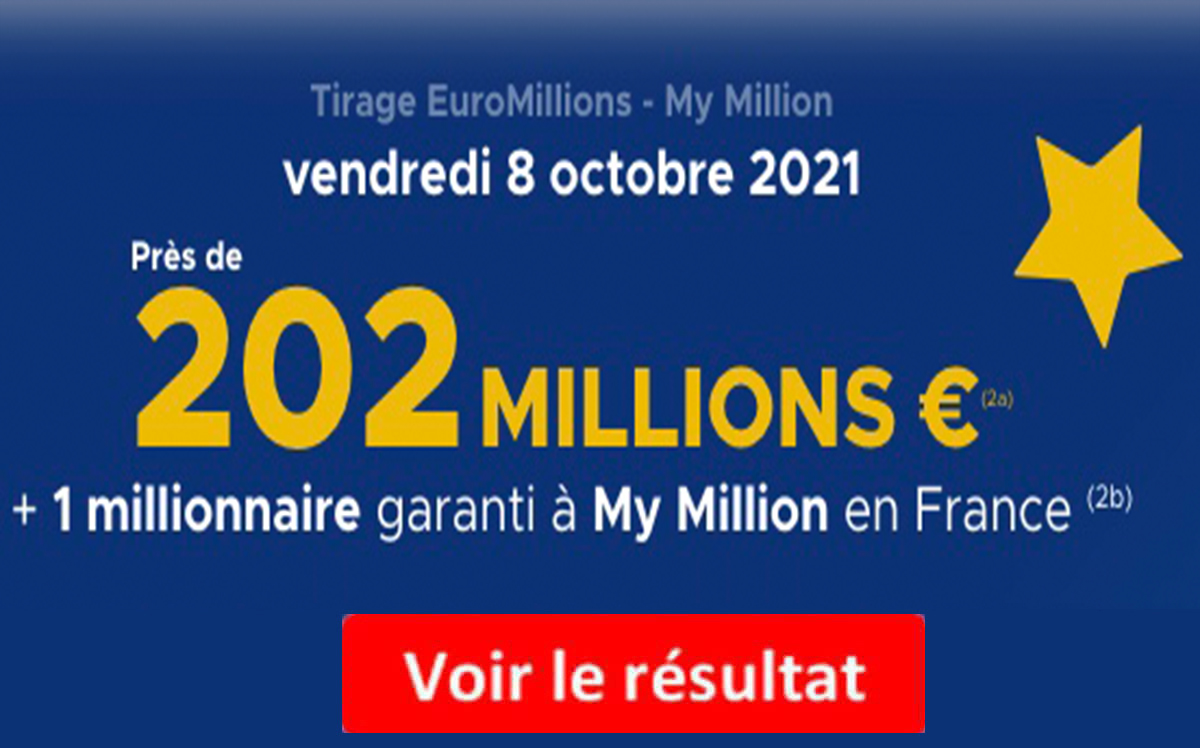 Resultat Euromillions 8 octobre 2021