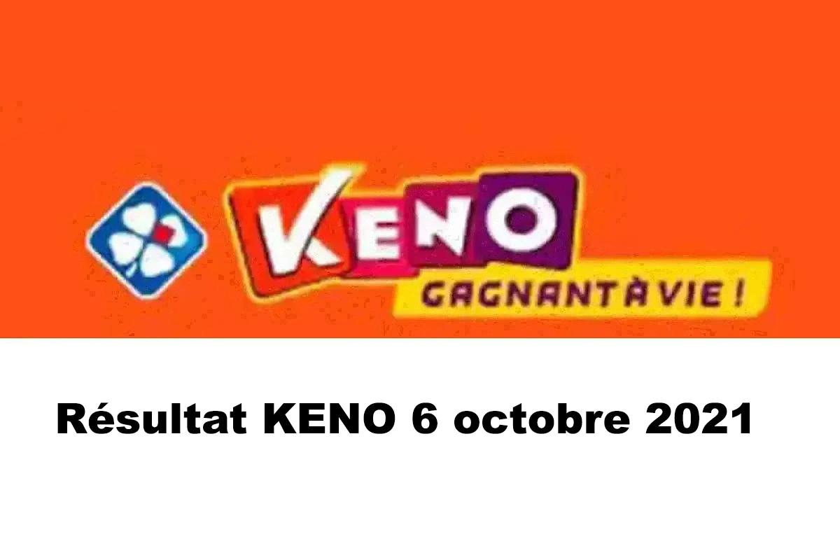 Resultat KENO 6 octobre 2021 tirage midi et soir